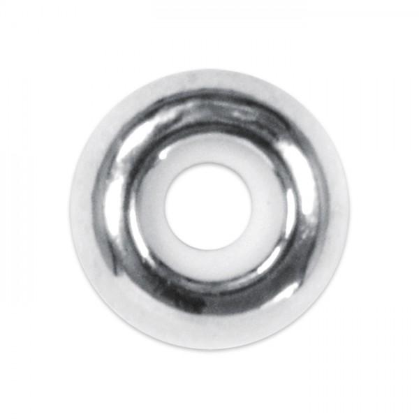 Metallperle mit Silikoneinlage 8x4mm platinfarben Lochgr. ca. 2,5mm