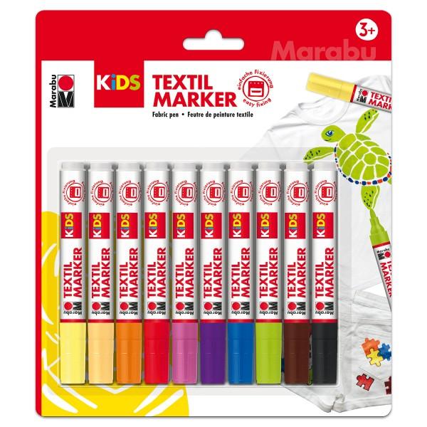 Textil Marker KiDS 10 St./Farben Strichbreite 3mm