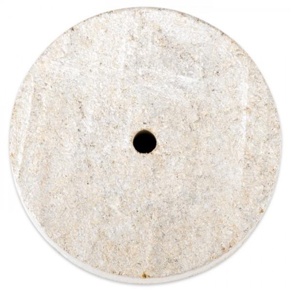 Speckstein-Scheibe rund ca. Ø 40x13mm mit Bohrung Farbe zufällig schwarz, braun oder braun-grün