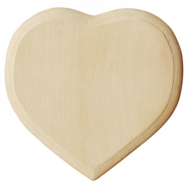 Türschild Herz Holz 0,7x13,5x13,5cm natur