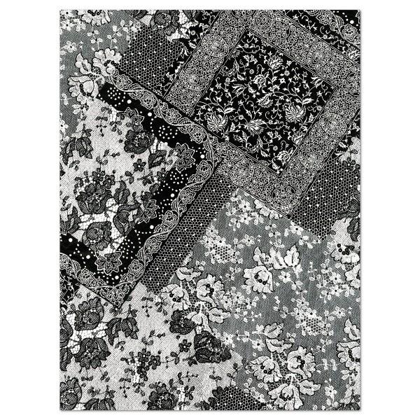 Decoupagepapier schwarz/weiß gemustert von Décopatch, 30x40cm, 20g/m²