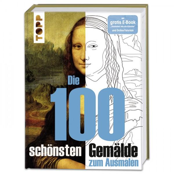 Buch - Die 100 schönsten Gemälde zum Ausmalen 208 Seiten, 21,7x28,7cm, Hardcover