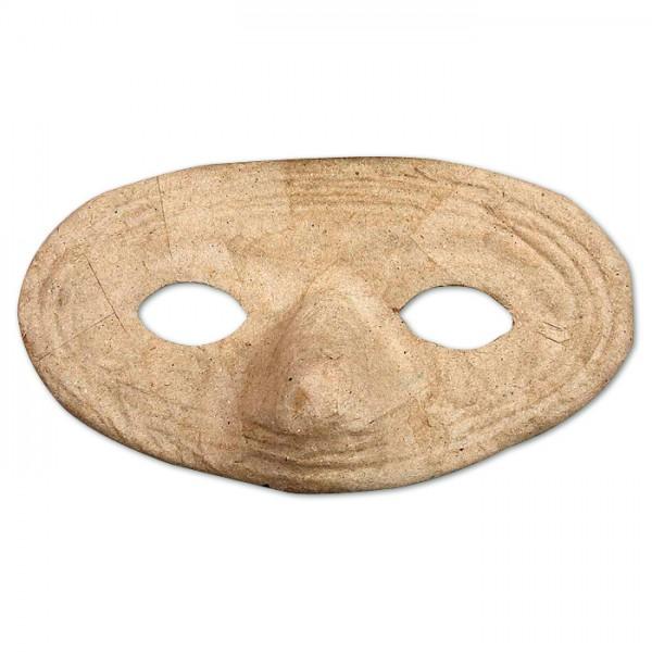 Augenmaske Pappmaché 16,5x9,5cm rund