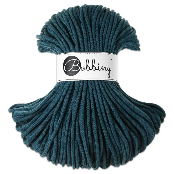Bobbiny Rope-Garn Premium Ø5mm peacock blue ca. 400g-500g, 100% Baumwolle, LL 100m