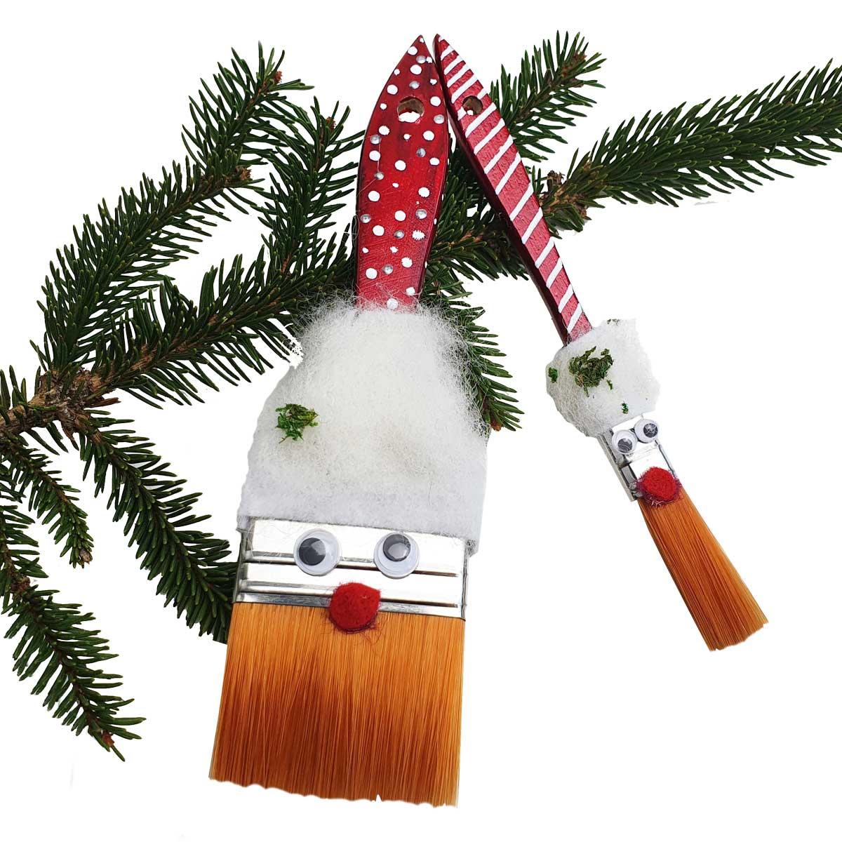 Lustiger Pinsel-Weihnachtsmann
