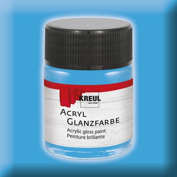 Acryl-Glanzfarbe 50ml himmelblau