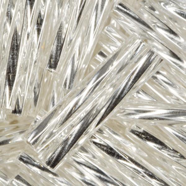 Glasstifte gedreht 15mm 13g silberfarben Lochgr. ca. 0,7mm