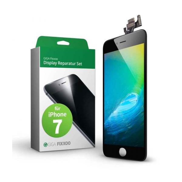 GIGA Fixxoo Display Komplettset schwarz iPhone 7