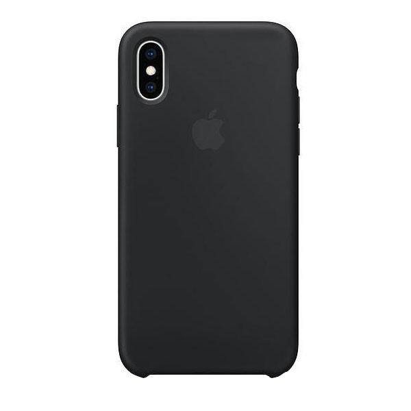 Apple iPhone XS Silikon Case schwarz
