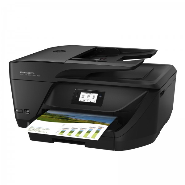 HP OfficeJet 6950 E-All-in-One Multifunktionsdrucker Drucker, Scanner, Kopierer, Faxen, HP Instant Ink, Duplex, WLAN, HP ePrint, Apple Airprint, USB schwarz