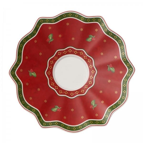 Villeroy & Boch Toy's Delight Rote Untertasse, 19 cm, Premium Porzellan