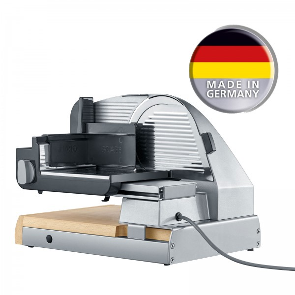 GRAEF SlicedKitchen SKS 850 Allesschneider Buchenholz und Edelstahl