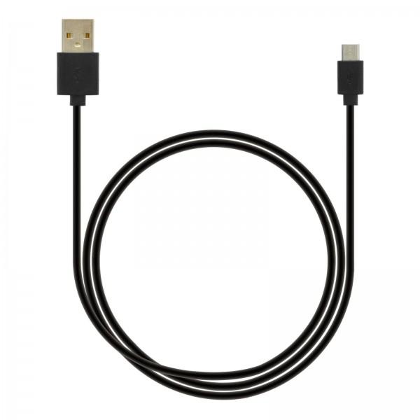 Axxtra Datacable mirco USB 1m schwarz