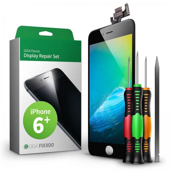GIGA Fixxoo Display Repair Set für iPhone 6 Plus schwarz