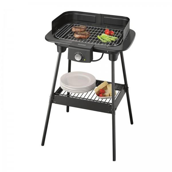 Severin PG 8551 Barbecue-Grill Jubiläums-Edition matt-schwarz / silber