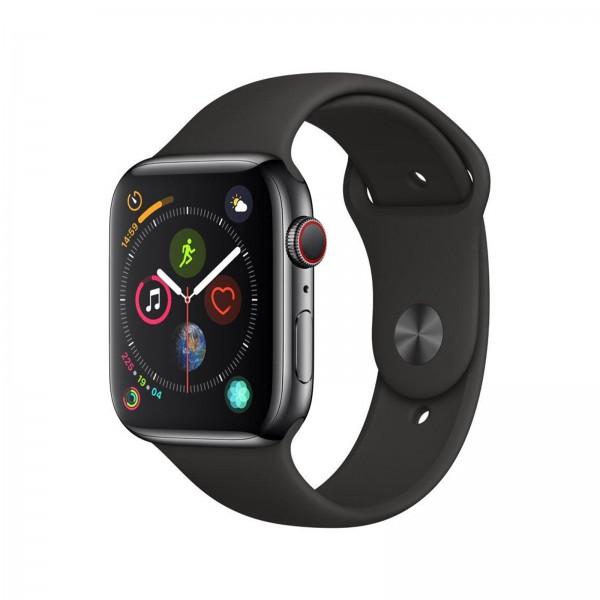 Apple Watch Series 4 LTE 44mm Edelstahl Sportband schwarz