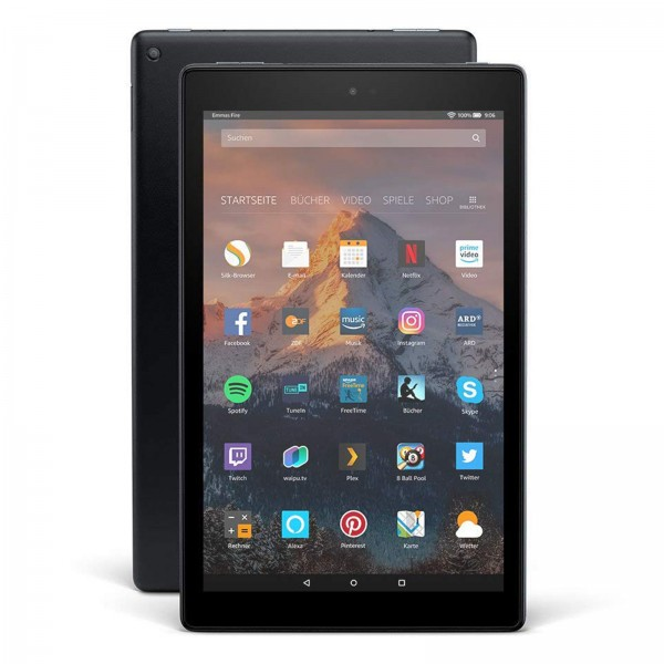 """Amazon Fire HD  10, Hands-  Free with Alexa,  10"""" Full-HD Display, 64 GB /2GB /1,8GHz Quad Core / Black - with  Special Offers"""