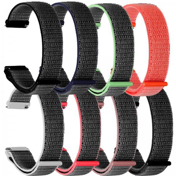 topp Nylon Loop Armband für Fitbit Versa blau