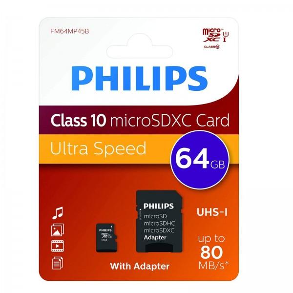 Philips microSDXC CL10 UHS-I 64GB