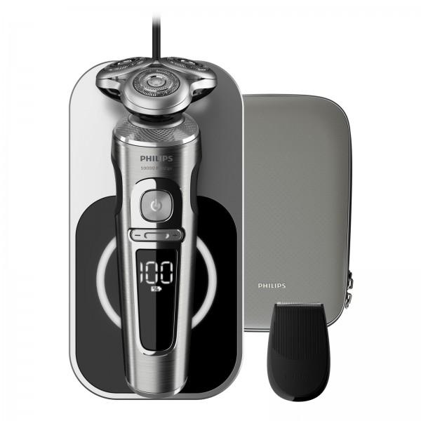 Philips SP 9861/13 Series 9000 Prestige Akku-Rasierer mit Qi-Ladepad