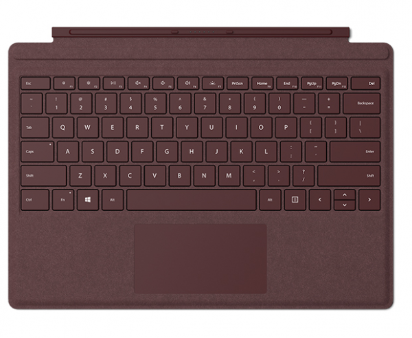 MICROSOFT Type Cover Surface Pro Bordeaux Rot