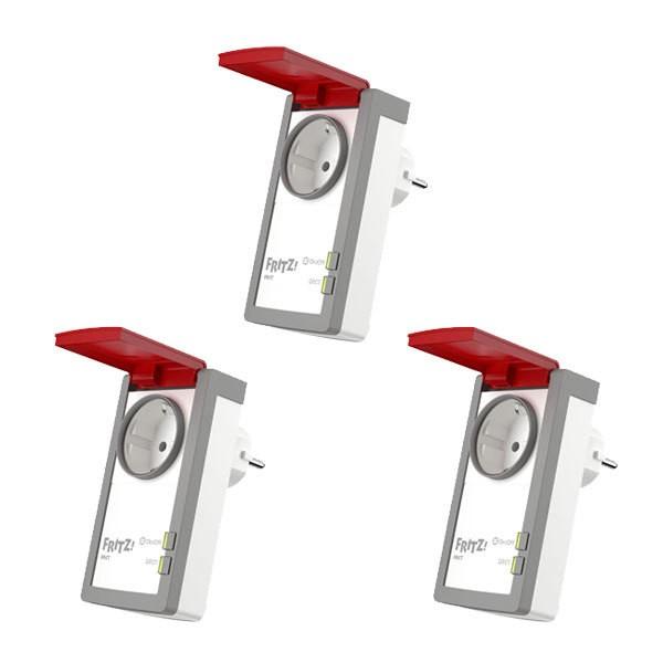 3x Avm fritz dect 210 intelligente steckdose smart home spritzwasserschutz