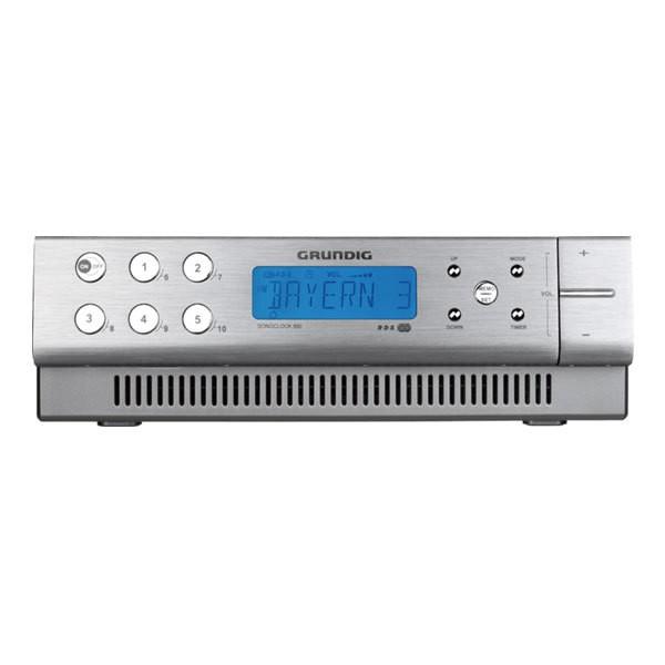 Grundig Sonoclock 890 Aluminium Uhrenradio Küchenradio Weckfunktion