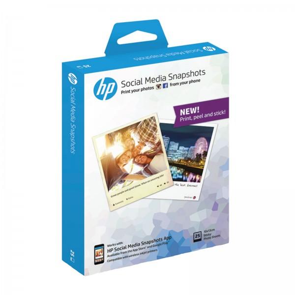 HP Social Media Snapshot Papier W2G60A 25 Blatt