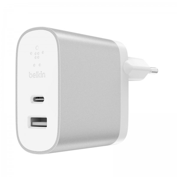 Belkin 2-Port Charger USB-A 12W silber