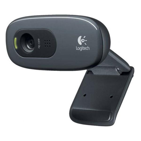 Logitech C270 HD Webcam 1280 x 720 Auflösung USB 2.0 kabelgeunden anklemmbar