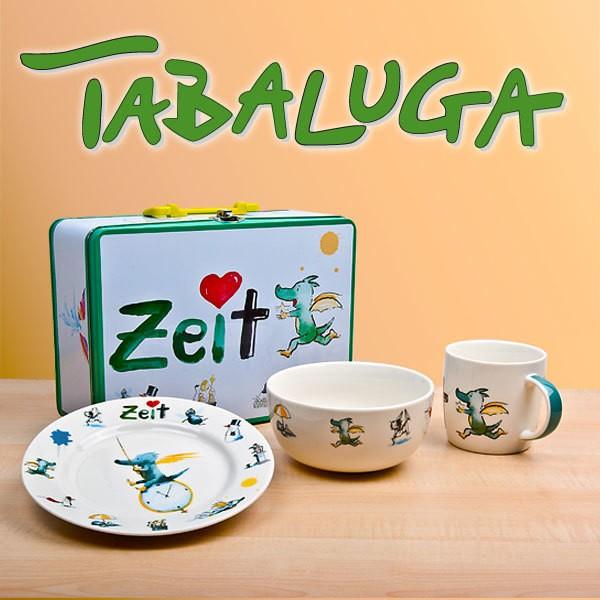 Tabaluga Koffer inkl. 3tlg. Kindergeschirrset