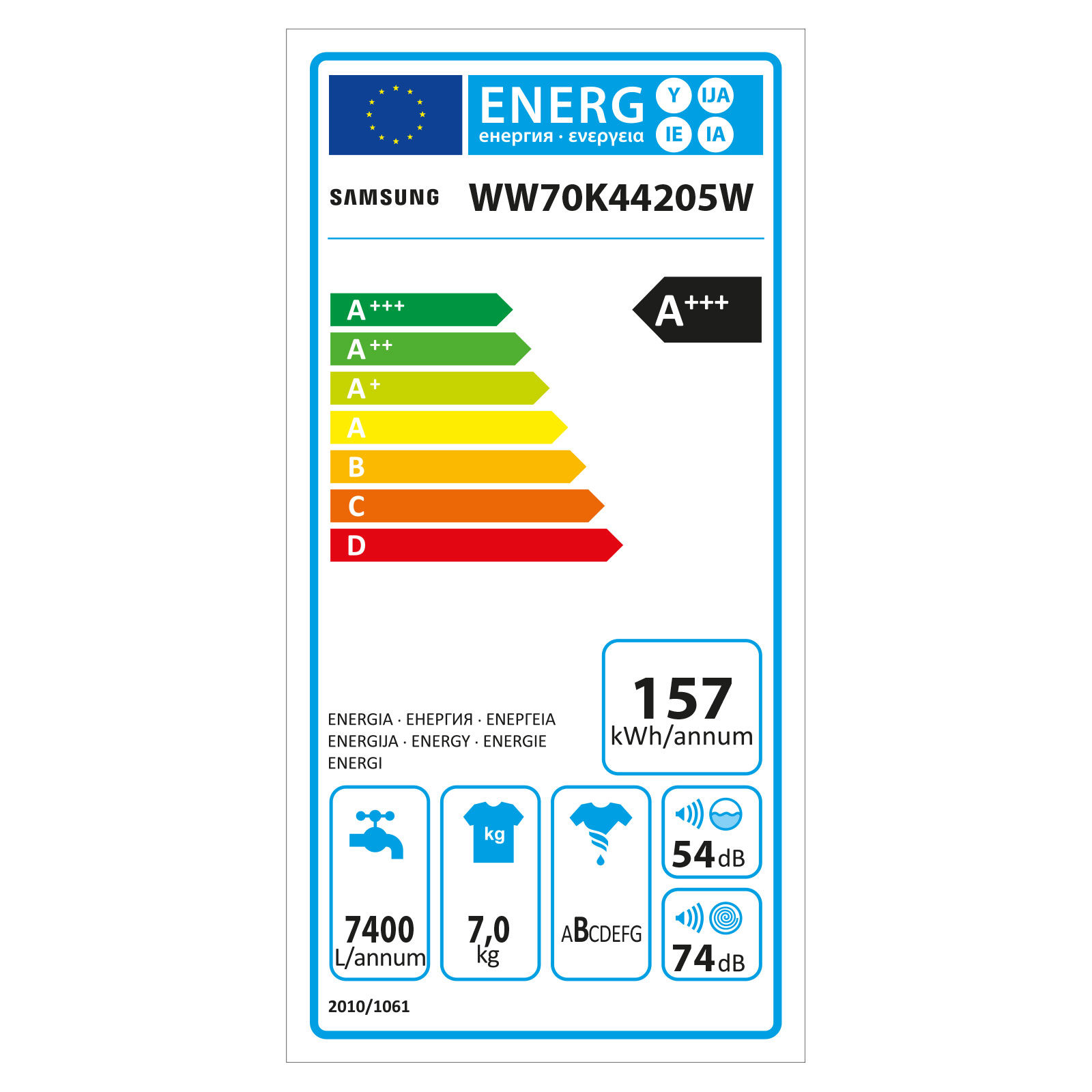 ... Vorschau: Samsung WW70K44205W/EG Waschmaschine 7kg