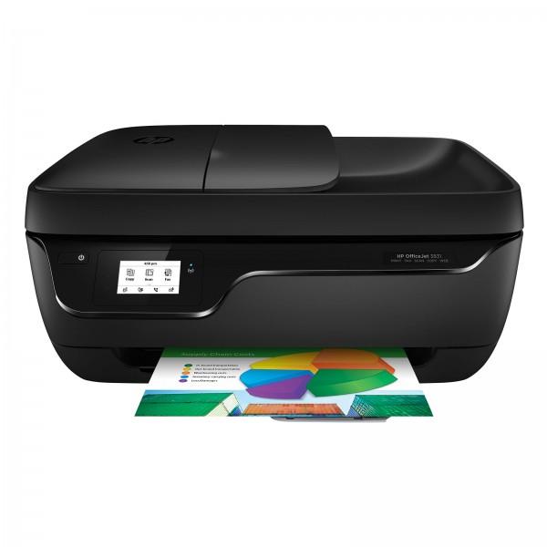 HP OfficeJet 3831 Multifunktionsdrucker Instant Ink, Drucker, Kopierer, Scanner, Fax, WLAN, Airprint