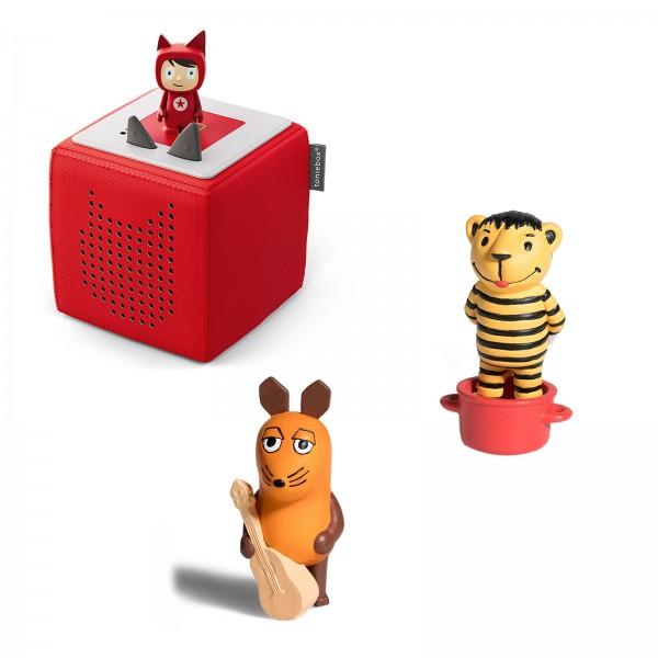 Tonies Starterbox ROT inkl. Tonie Figur JANOSCH - Oh, wie schön ist Pana und Die Maus (M)auserlesene Lieder