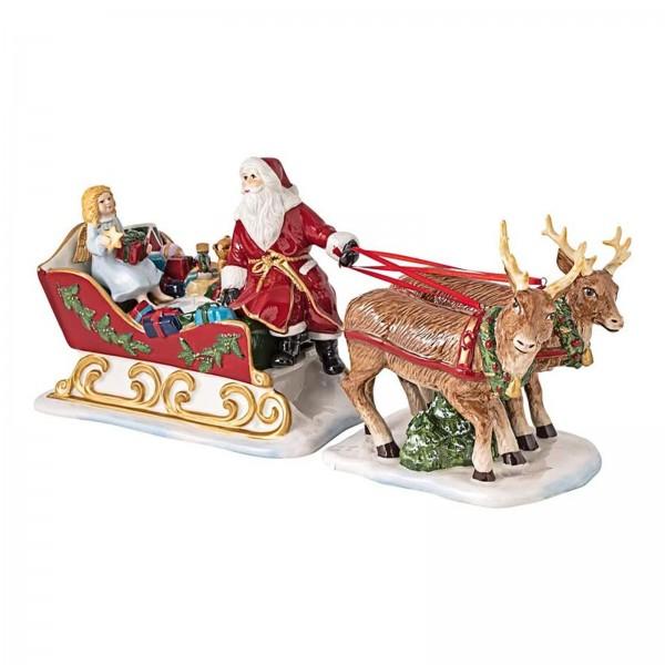 Villeroy & Boch - Christmas Toy's Memory Schlitten, dekorative Figur aus Hartporzellan, für Teelicht