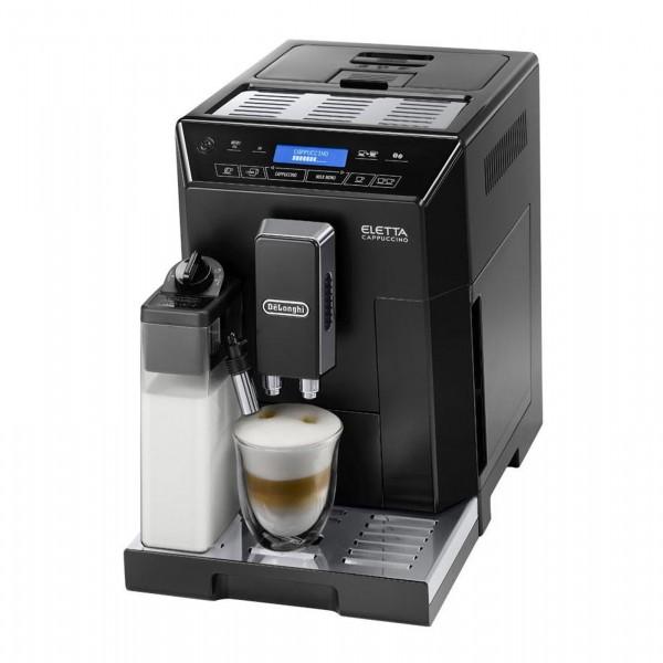 Delonghi ECAM 44.660.B ELETTA CAPPUCINO Kaffeevollautomat Hochglanz-Schwarz mit Edelstahl-Applikatio