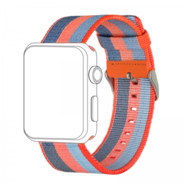 topp Nylon Armband für Apple Watch 42mm orange blue