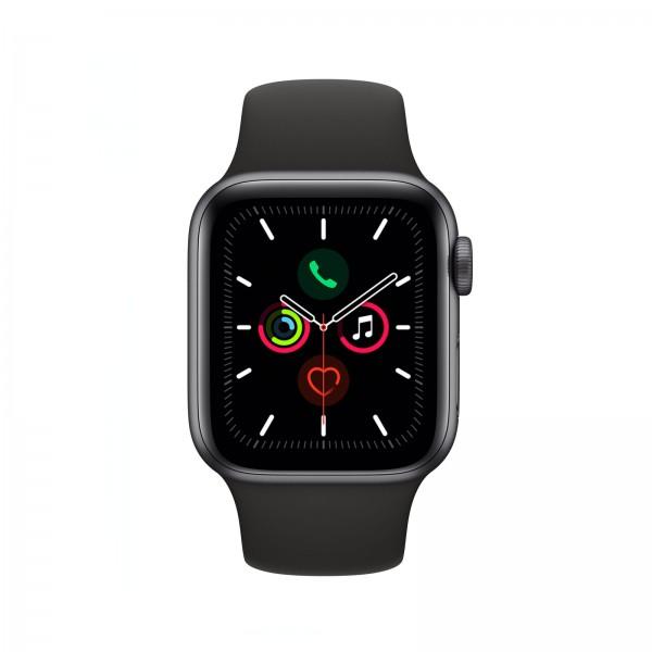 Apple Watch Series 5 LTE 40mm Alu Case silver Sportband weiß