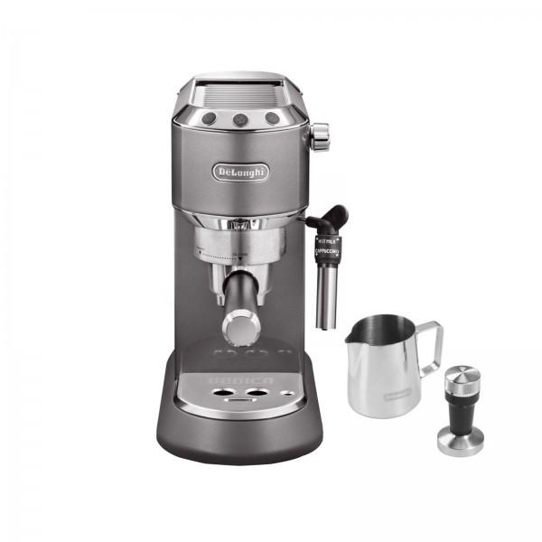 DeLonghi EC 785.GY DEDICA METALLICS THE BARISTA PACK Espressomaschine grau