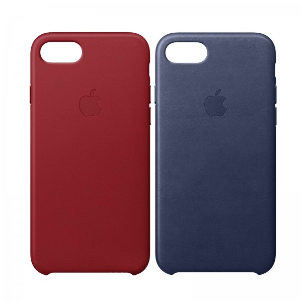 Apple iPhone 8/7 Leder Case mitternachtsblau