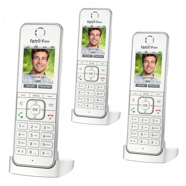 3x AVM FRITZ!Fon C6 IP DECT-Komforttelefon Smart Home FritzBox Anrufbeantworter
