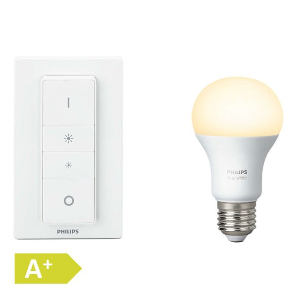 Philips Hue White Wireless Dimming Kit 10W E27 A60 EUR 800 lm 9,5 W Lichtsystem