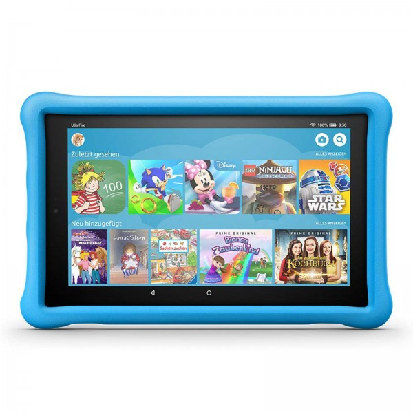 """Amazon Fire HD 10 Kids Edition , Hands-  Free with Alexa,  10"""" Full-HD Display, 32 GB  / Blue Kids poof case - with  Special Offers"""