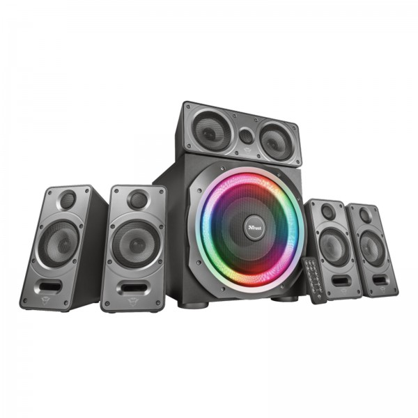 Trust GXT 698 Torro 5.1 PC-Lautsprecherset Surround Speaker System RGB 180 Watt