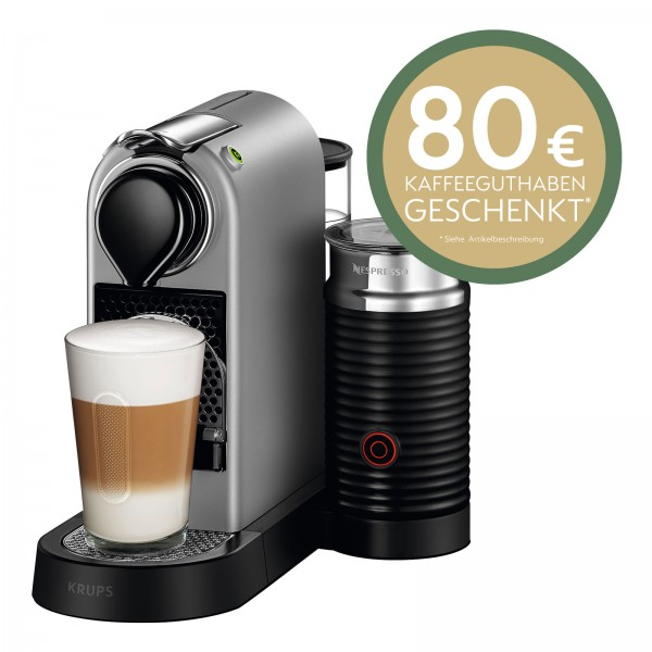Krups XN 760 B Nespresso New Citiz&Milk silber