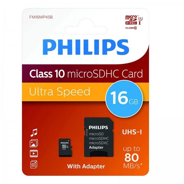Philips microSDHC CL10 UHS-I 16GB