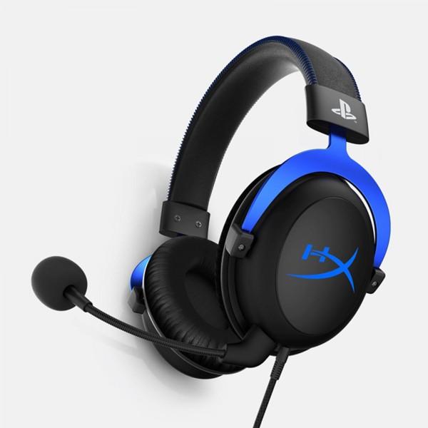 HyperX Cloud Gaming-Headset Over-Ear Kopfhörer Blau Headphones PS4 PC 3,5mm