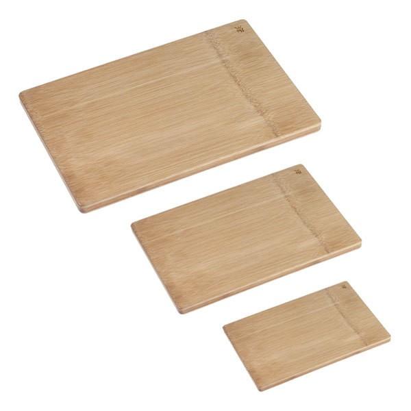 WMF Bambusschneidebretter 3er Set 45x27 cm & 38x26 cm & 26x20 cm