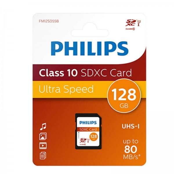 Philips SDXC Card CL10 UHS-I 128GB