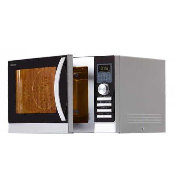 Sharp R-843 INW Mikrowelle 25 L Heißluft silbermetallic